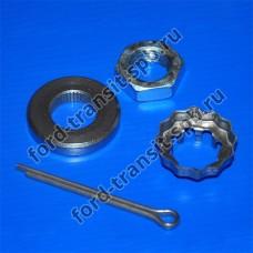Комплект крепления передней ступицы ( R ) Форд Транзит 1991 - 2000 ( шайба + гайка + кольцо )