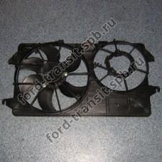 Диффузор радиатора Ford Connect 5/02-6/07 1.8 Бензин и Дизель (с кондиционером)