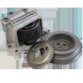 Шкивы и опоры двигателя